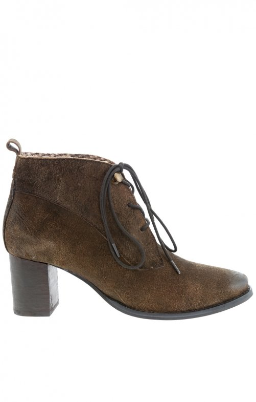 Traditional bootee GLINA brown