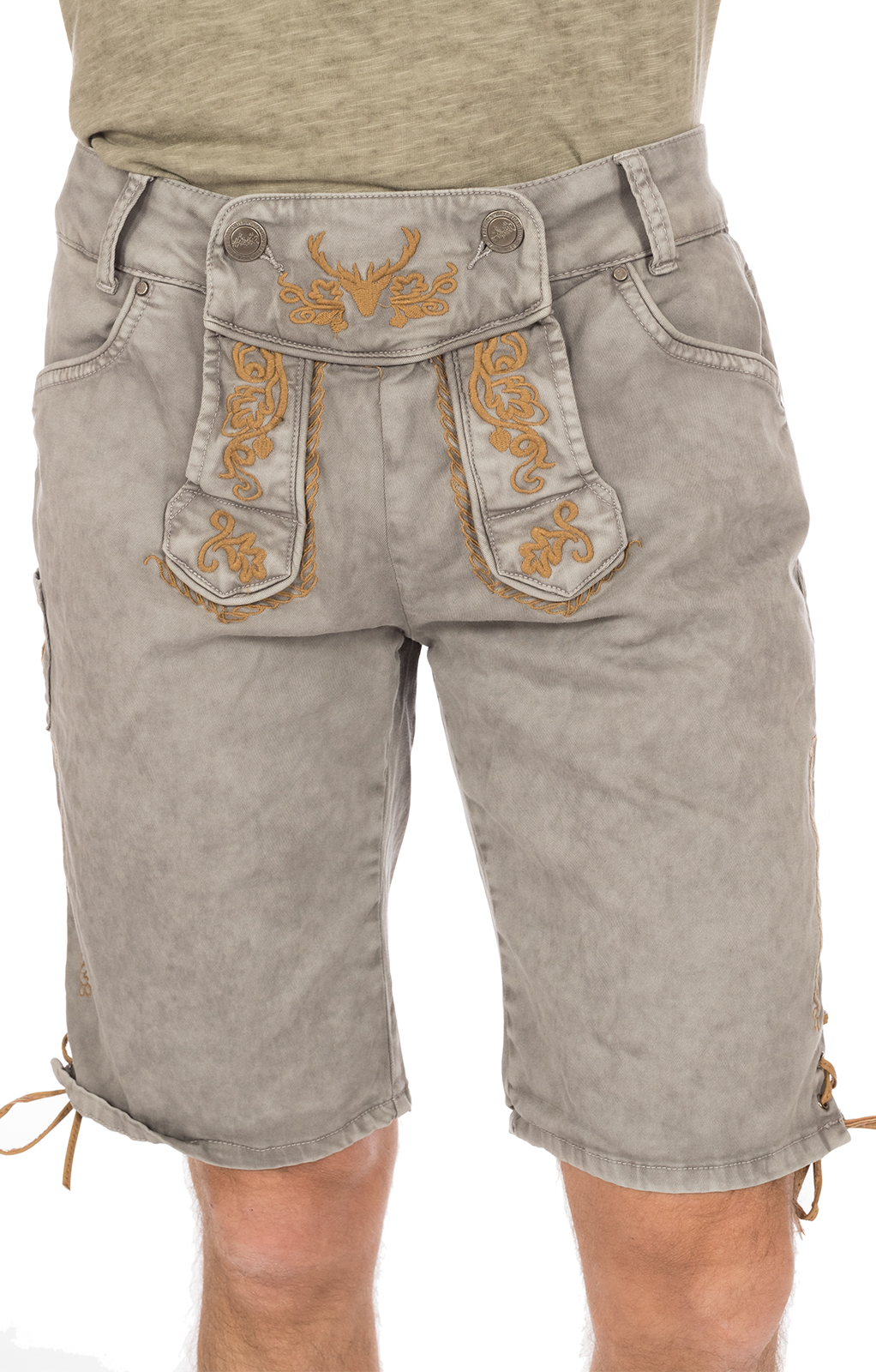 weitere Bilder von Traditional jeans shorts HE1719 light gray