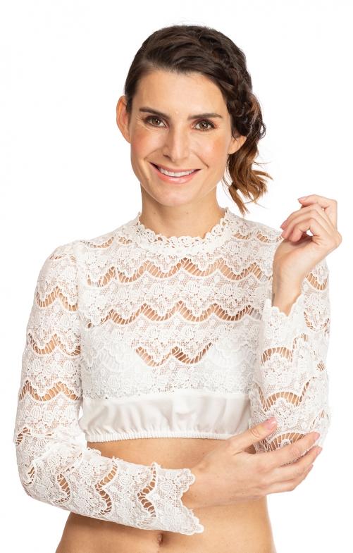 Traditional dirndl blouse JULIE ecru