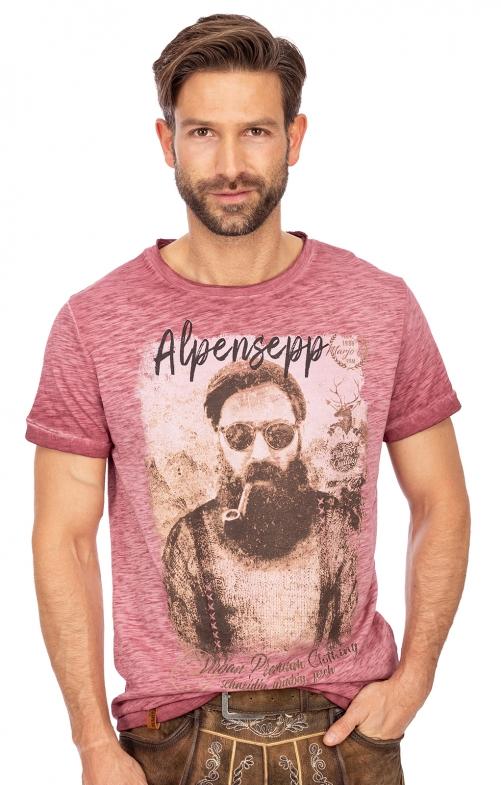 T-Shirt L10.1 - ALPENSEPP bordeaux