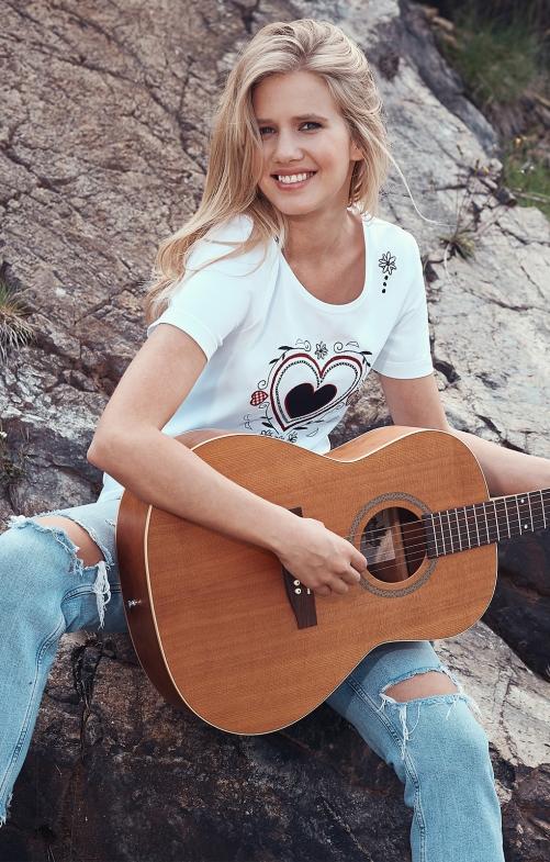 Tracht T-Shirt HÖFENERALM white
