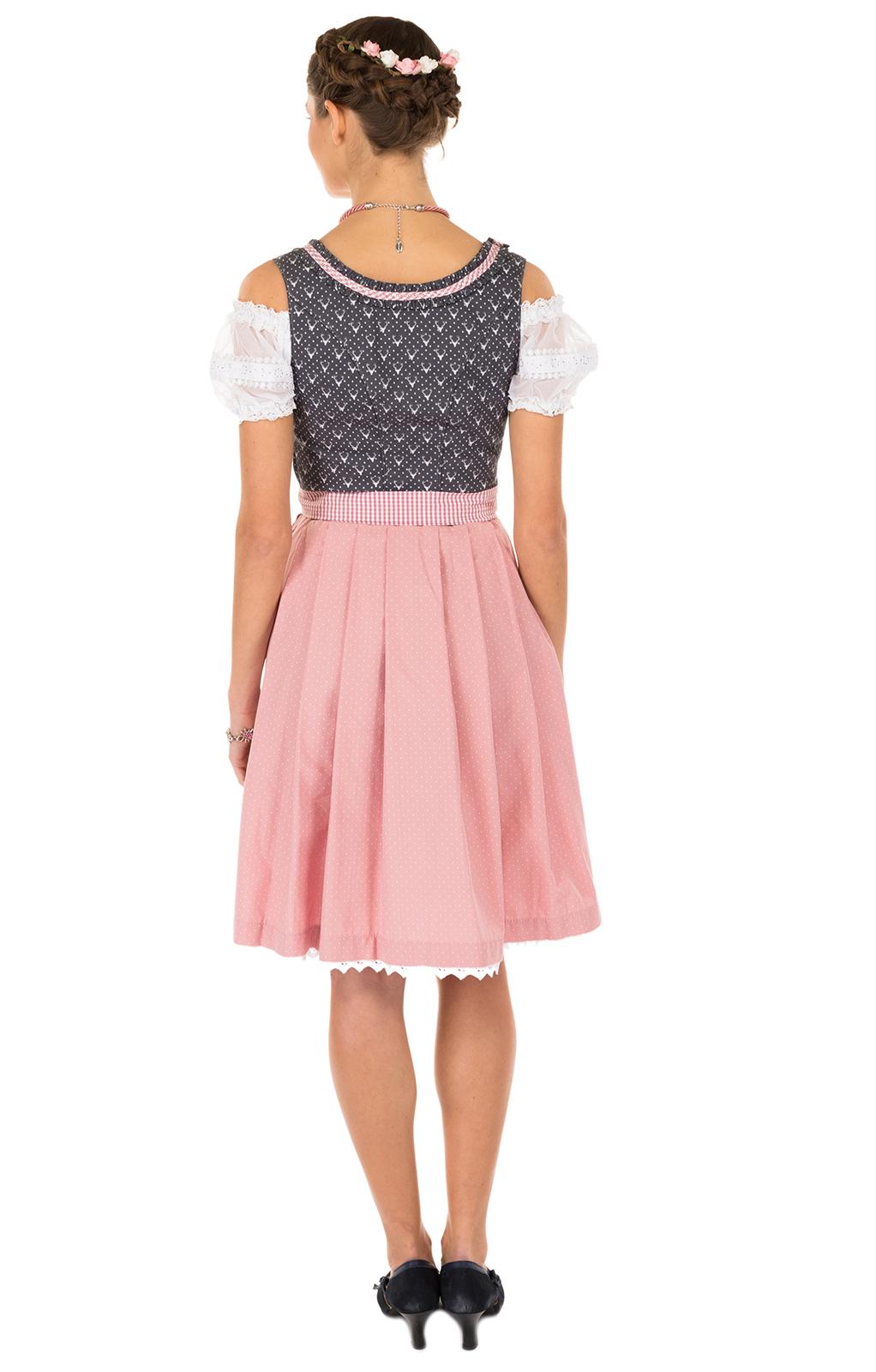 weitere Bilder von Minidirndl 2pcs. 55 cm Ernesta black pink