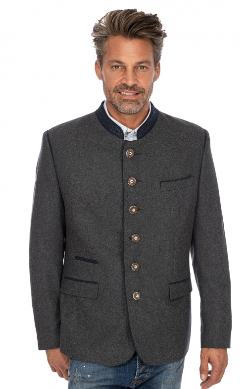 German traditional jacket TITUS gray blue