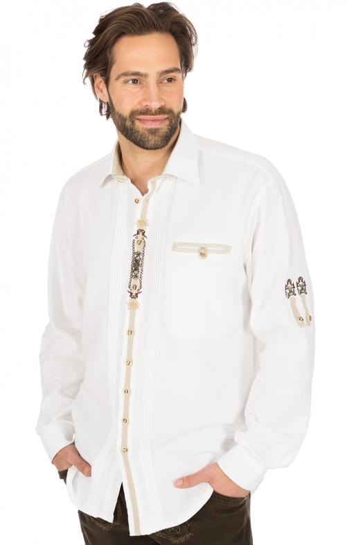 Trachtenhemd SAMU weiss
