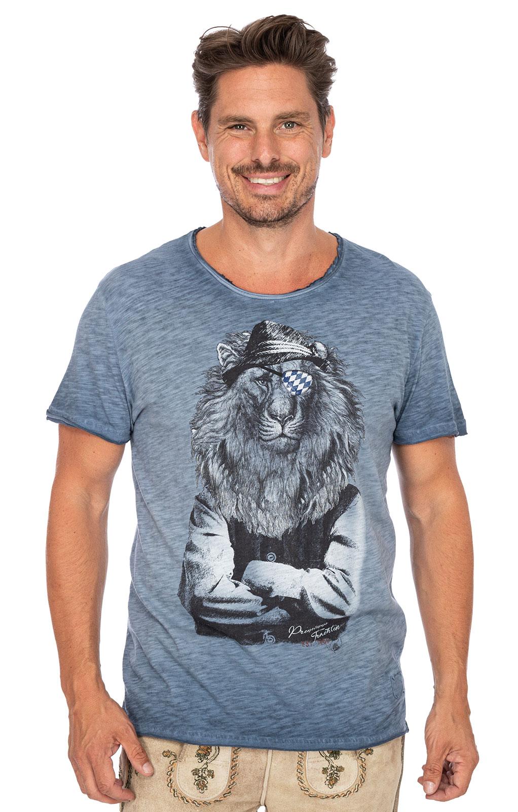 Trachten T-Shirt G16 - LEOPOLD blau von Marjo