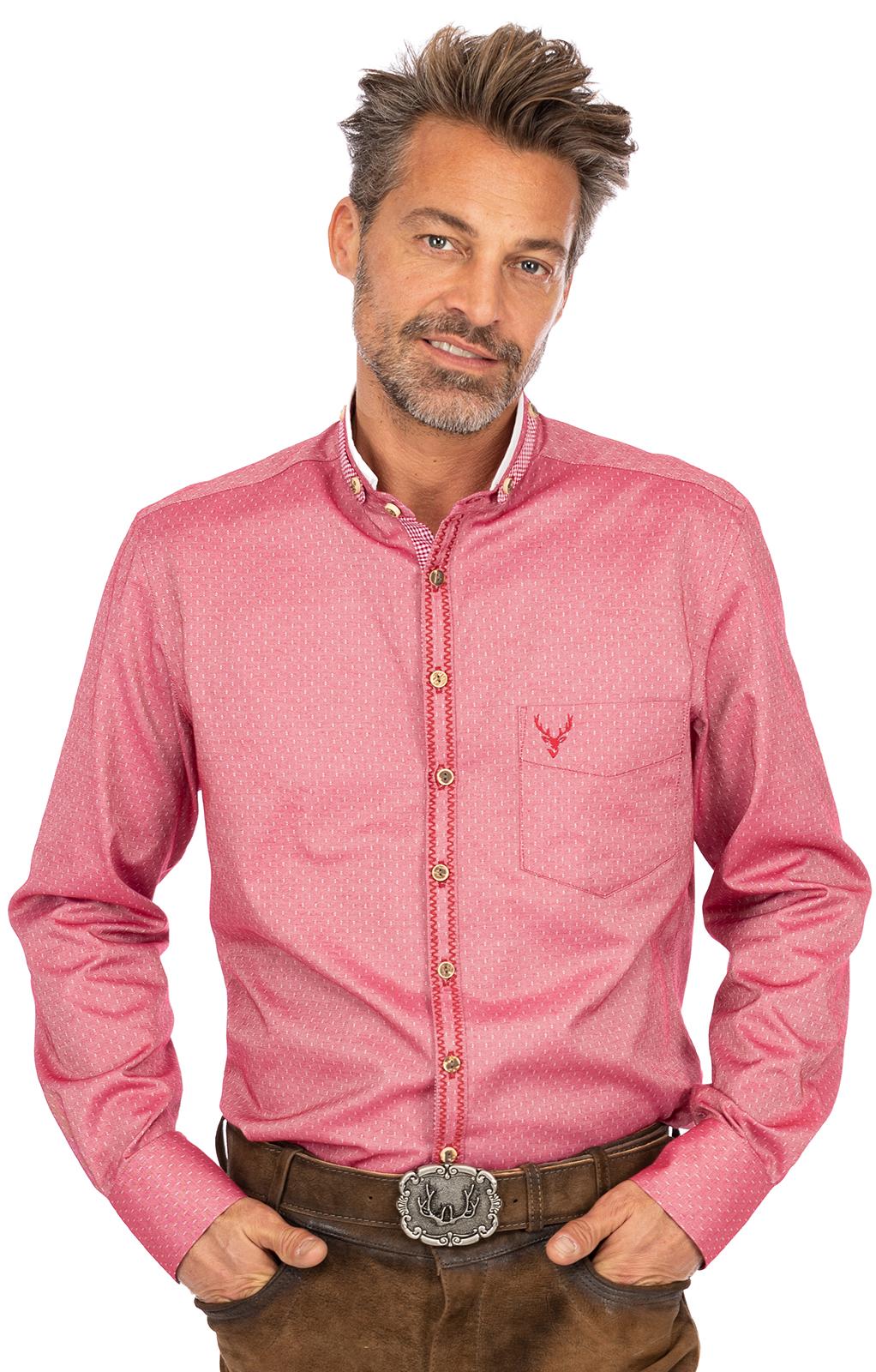 Camicia per Trachten Vestibilità FELIX rosso von OS-Trachten