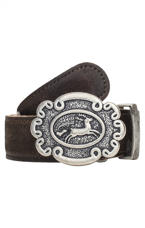 Traditional leather belt GO65 antiquebrown