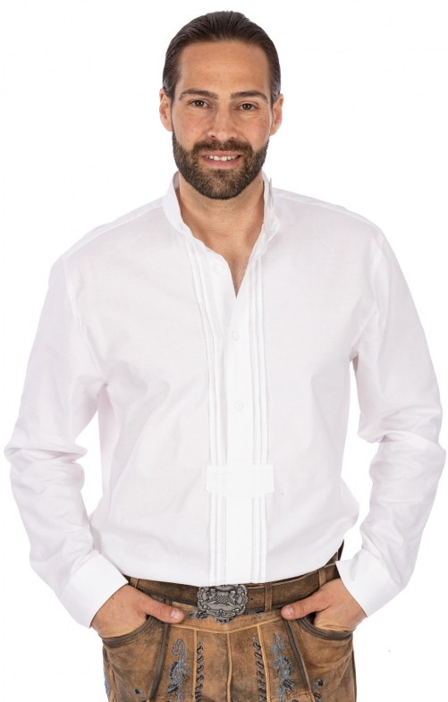 Trachtenhemd MARIUS Pfoad weiss