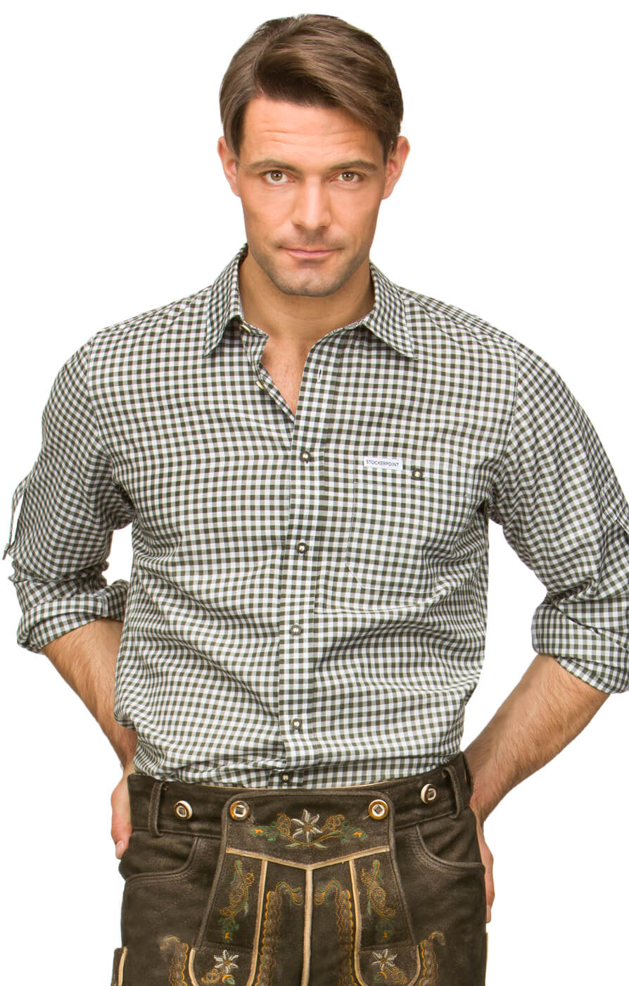 German traditional shirt checkered Campos2 reed von Stockerpoint
