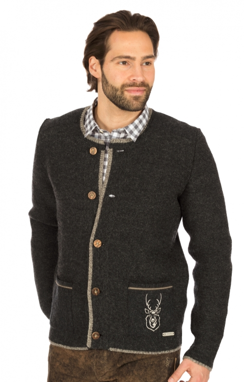 Traditional waistcoat ZUGSPITZ anthracite