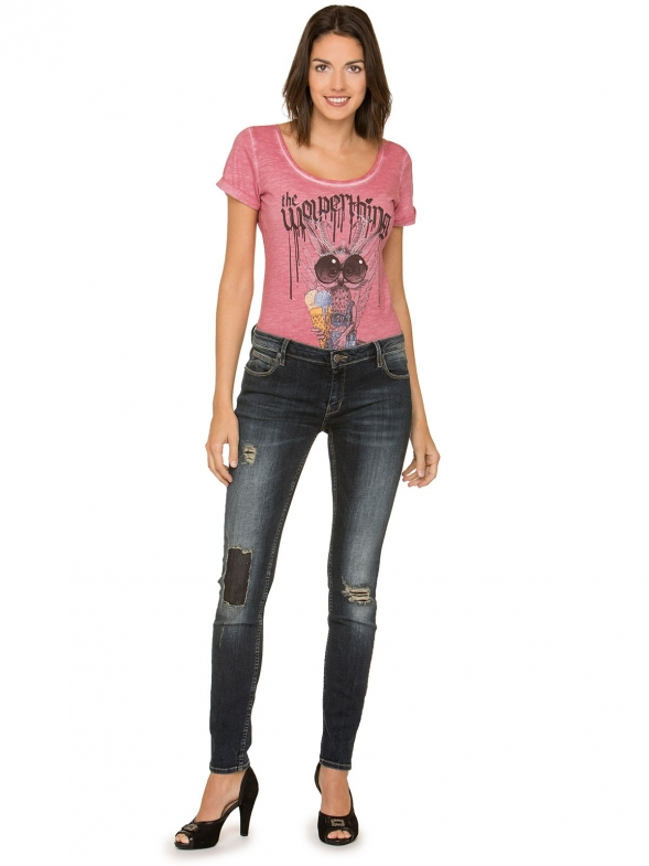 Trachtenjeans lang No1 50 Long darkdestroyed