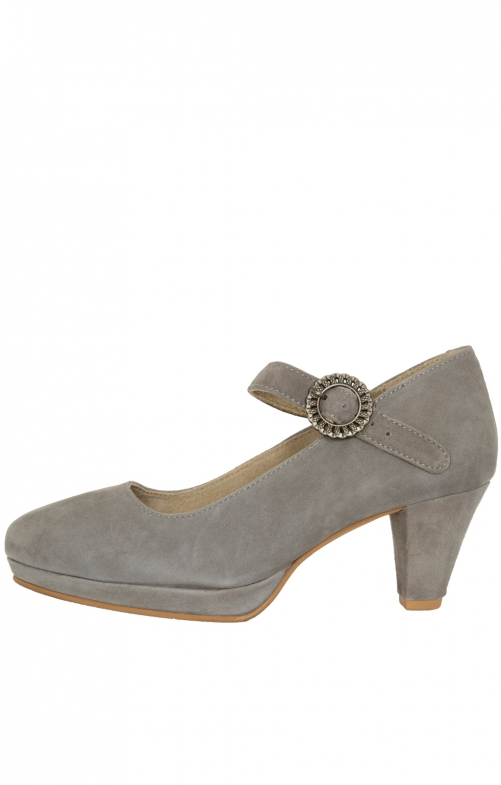 Traditional dirndl shoes 6006 taupe