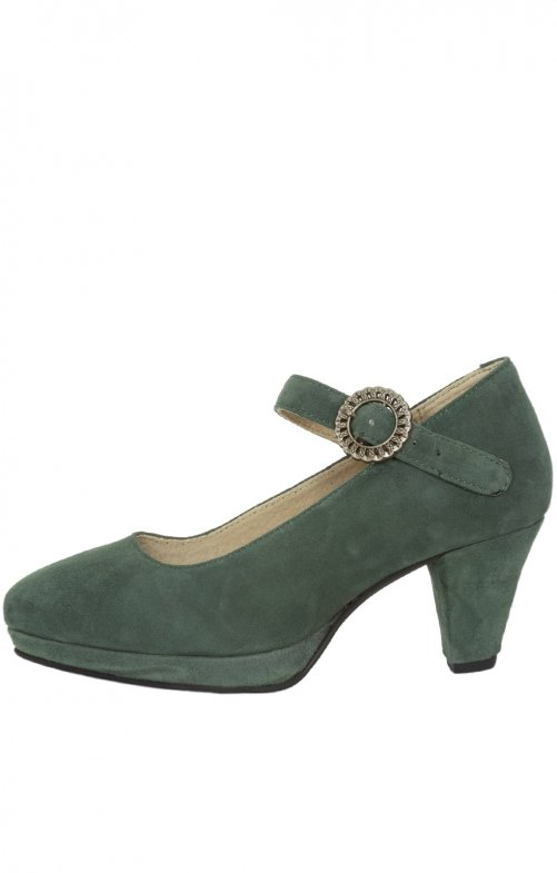 Traditional dirndl shoes 6006 dark green