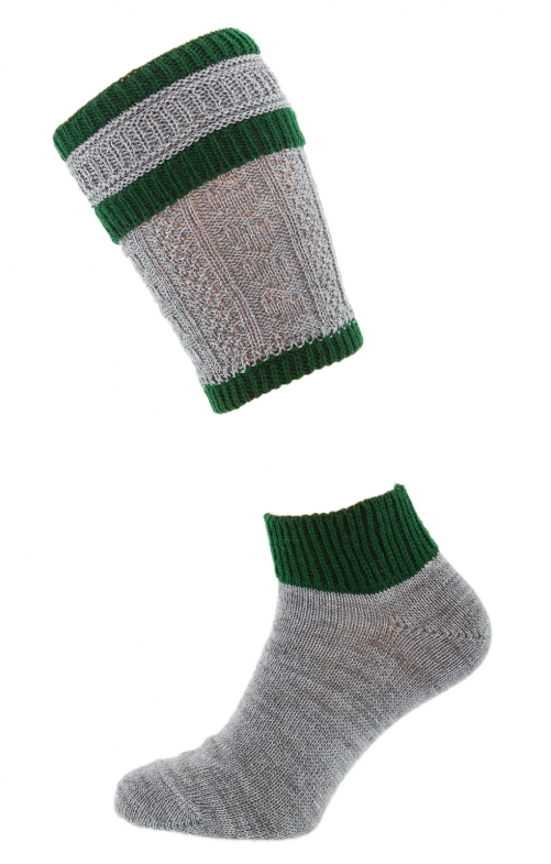 Traditional socks shirt CS506 gray green