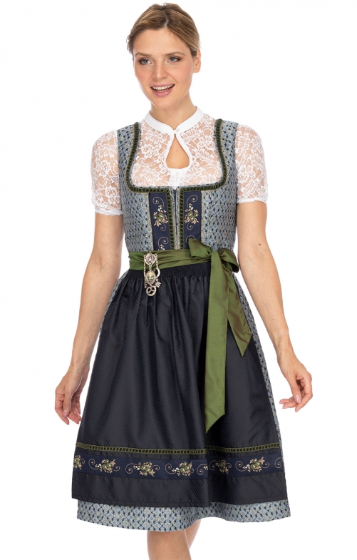 Mididirndl 2pcs. 65 cm JULIANE smoke night blue