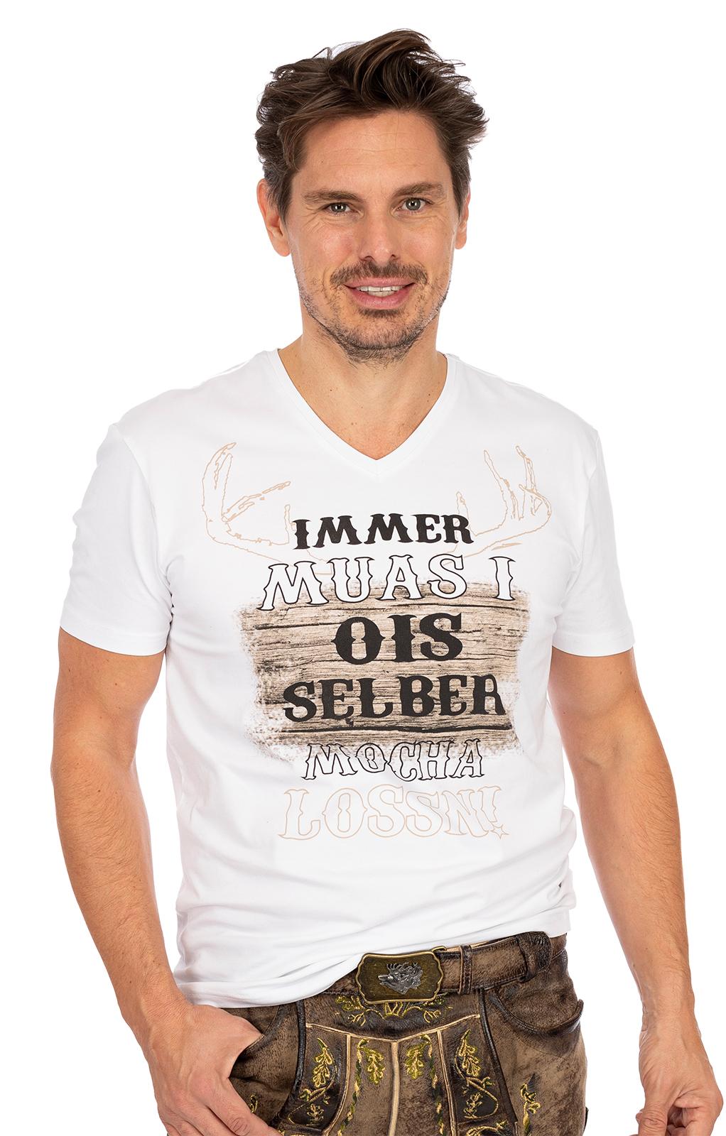 T-Shirt UROS weiß von Hangowear