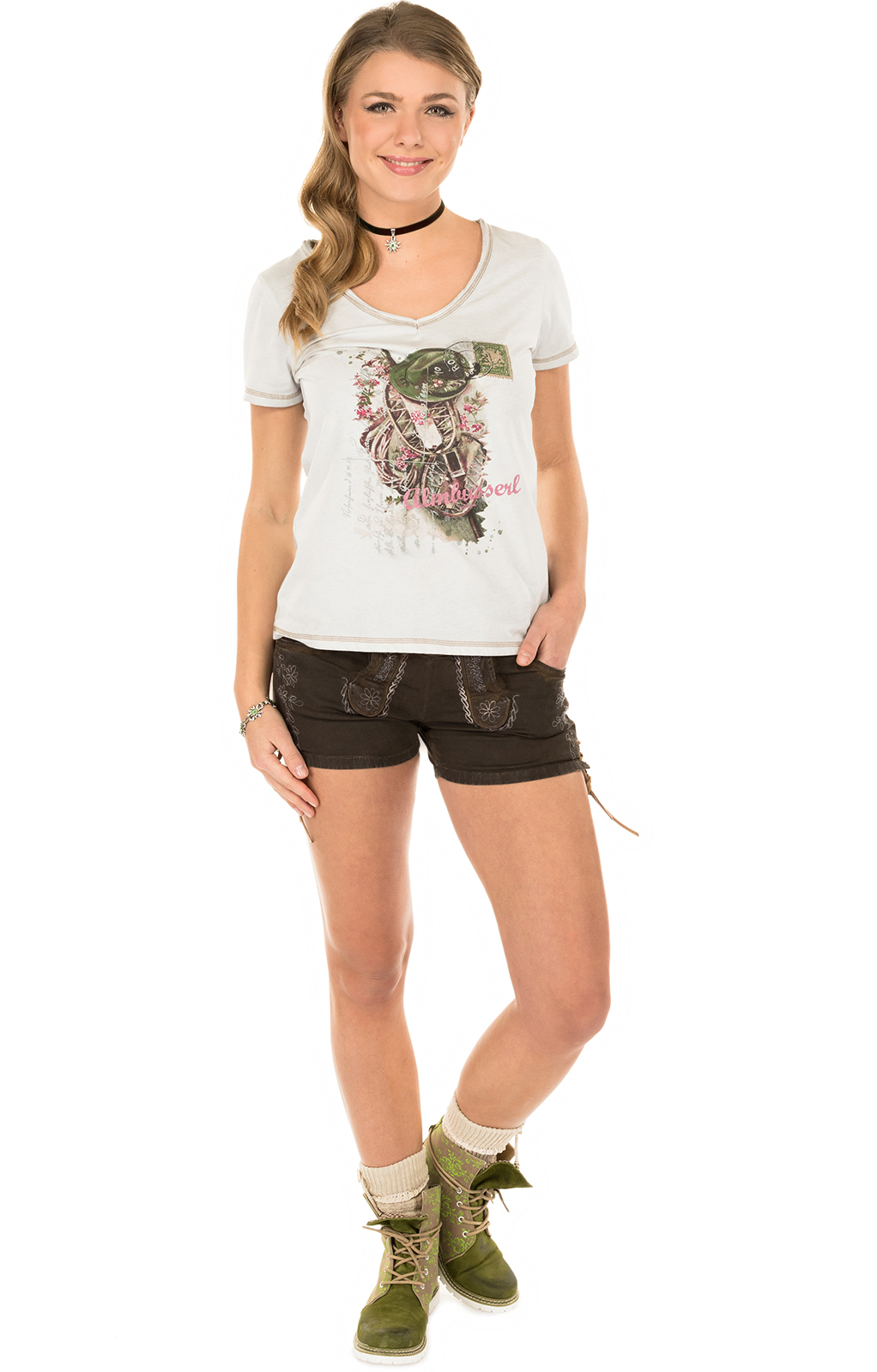 weitere Bilder von Trachten T-Shirt K06 ALMBUSSERL natur