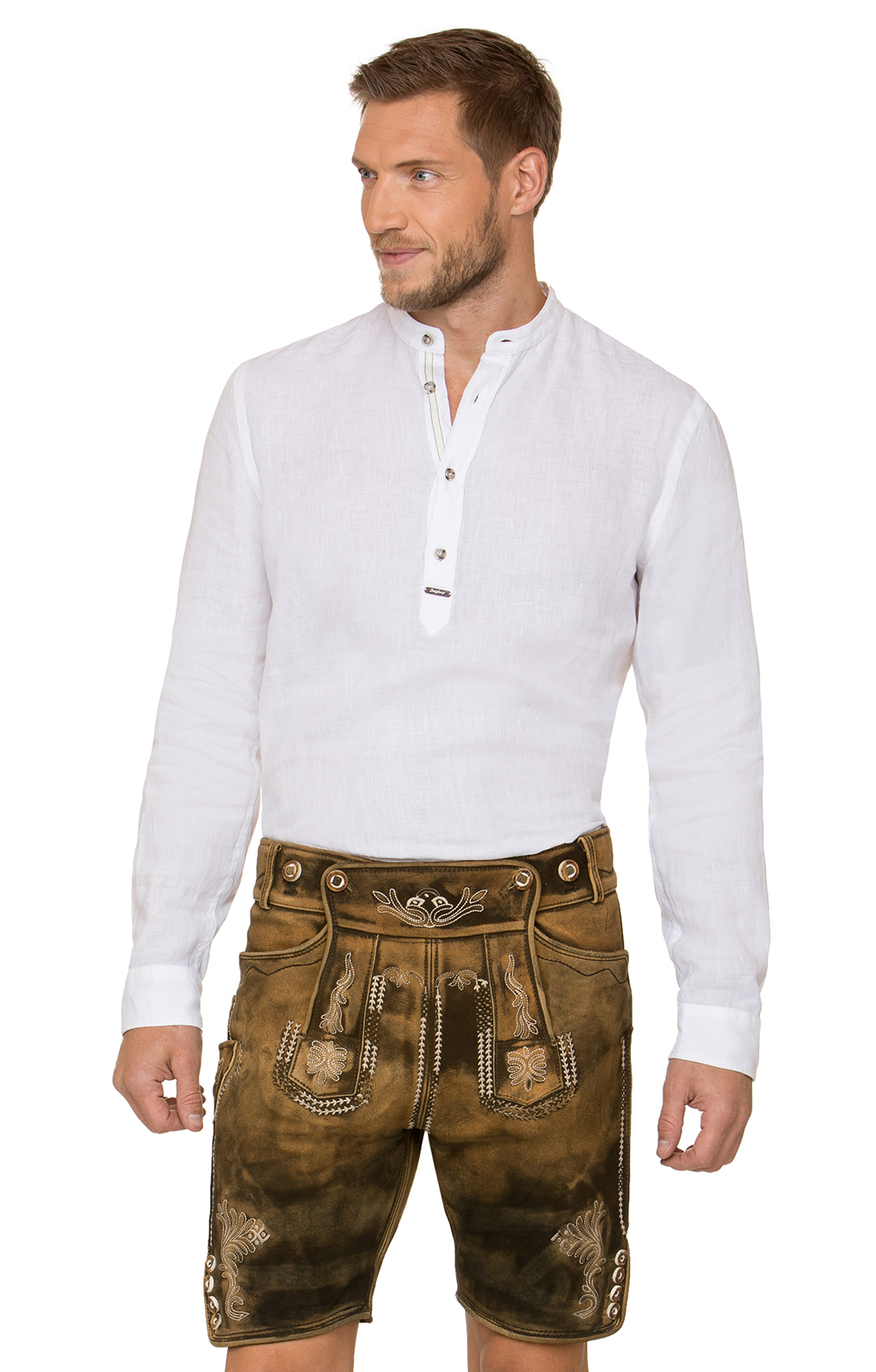 Pantalone Trachten in pelle HM1050 marrone von Stockerpoint