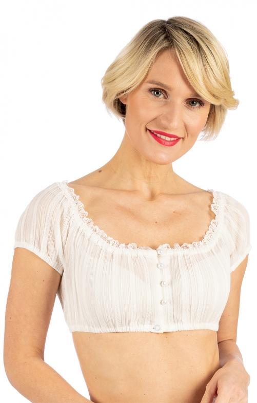 Traditional dirndl blouse TAMMY ecru