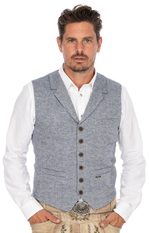 Tradition vest HARRY blue
