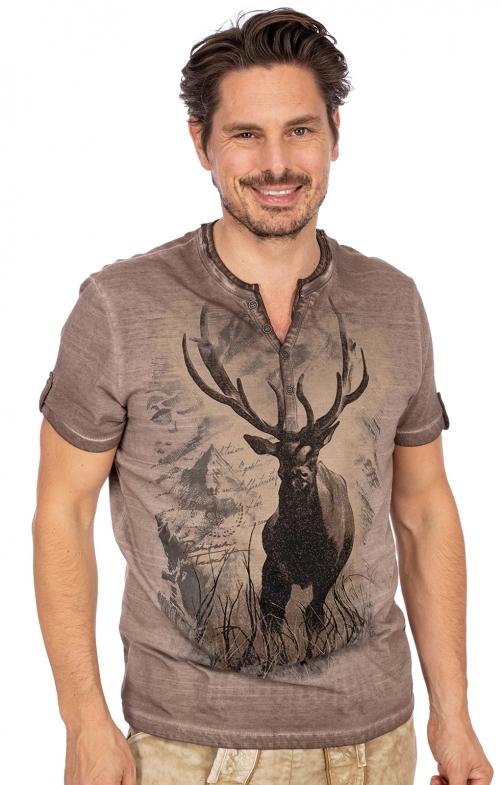T-Shirt HUGO braun