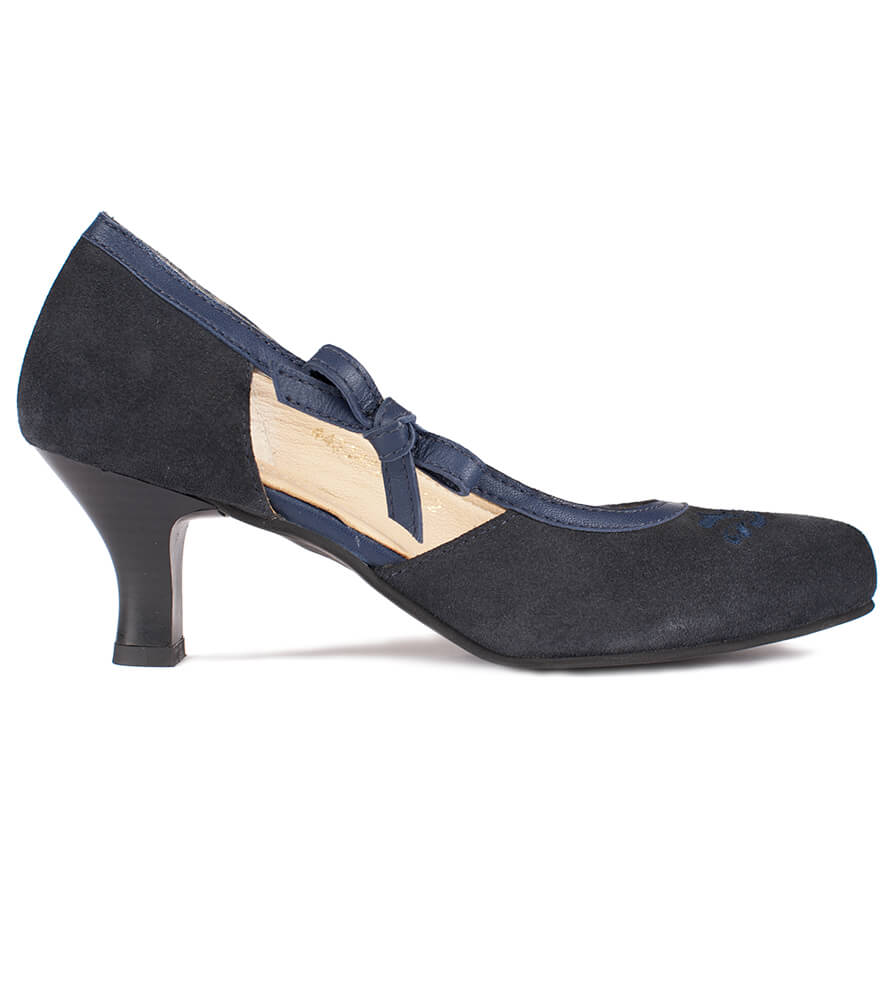 Traditional dirndl shoes D443 Valeska Pumps Navy von Spieth & Wensky