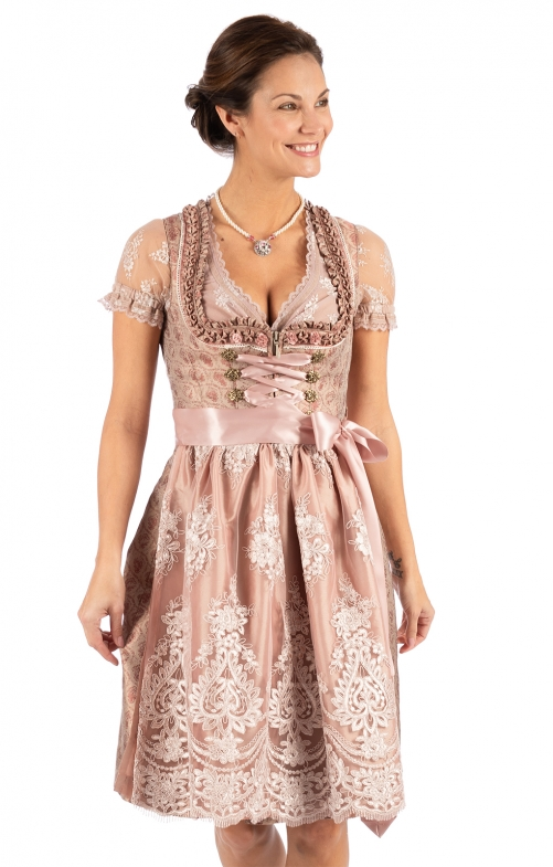 Minidirndl 2pcs. 58 cm FLICKA old rose