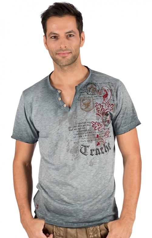 Trachten T-Shirt FELIX blau-grau