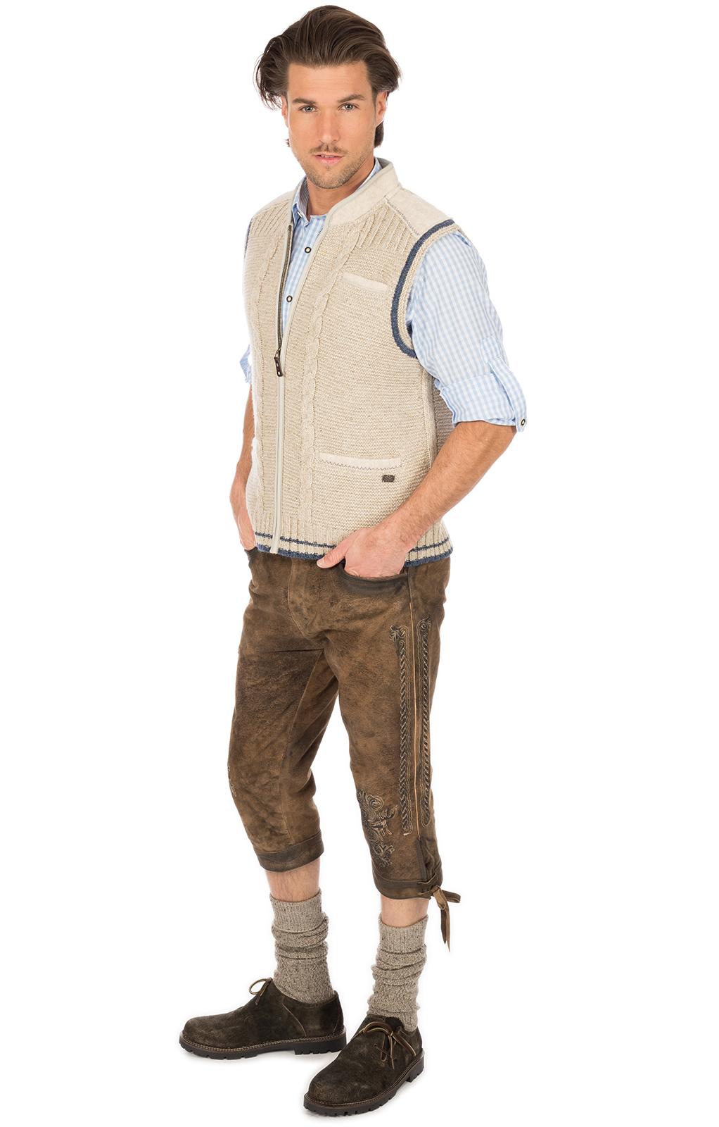 weitere Bilder von Traditional waistcoat knitted brown blue