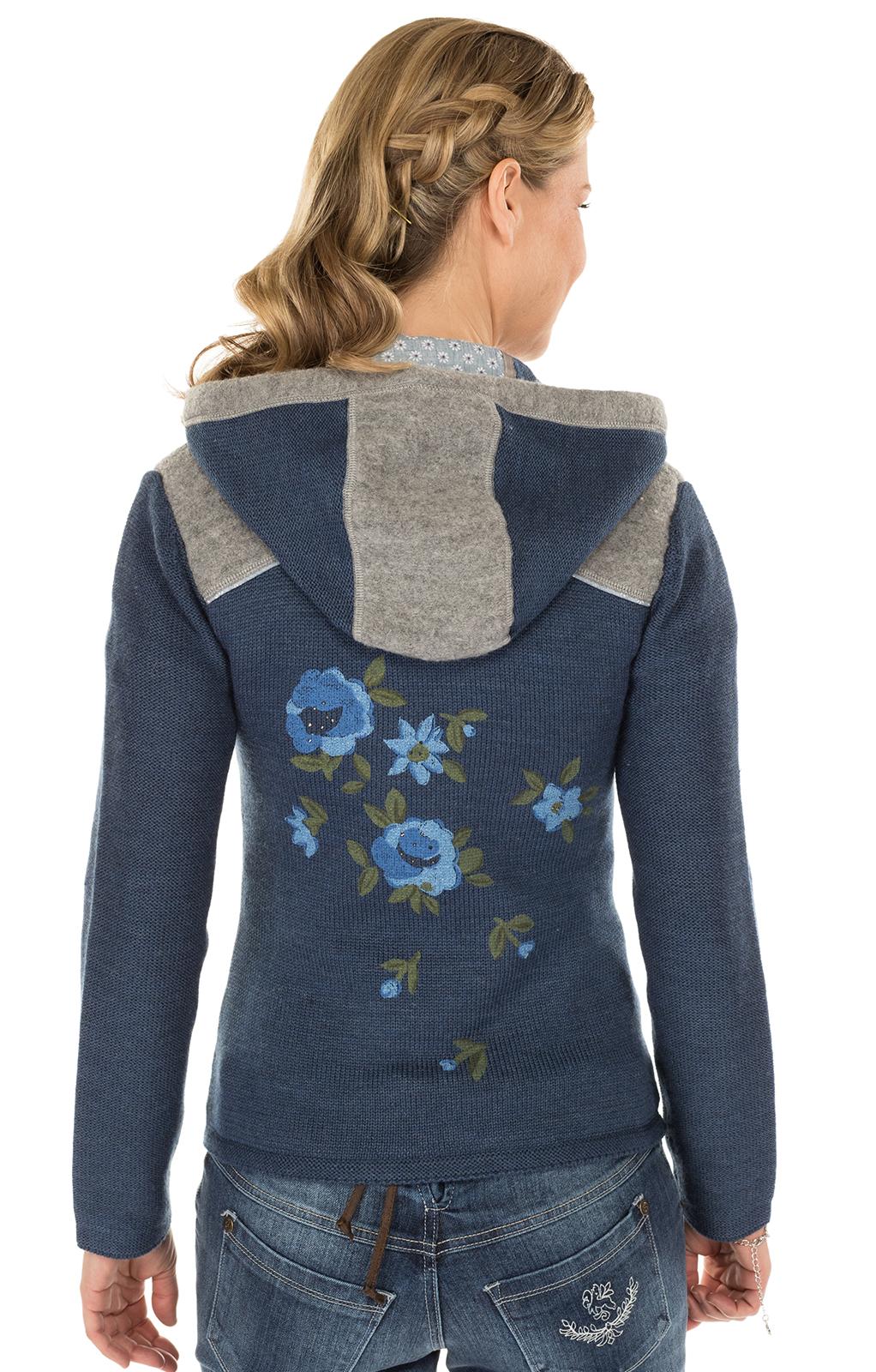 weitere Bilder von Trachten Strickjacke GRAINET jeansblau