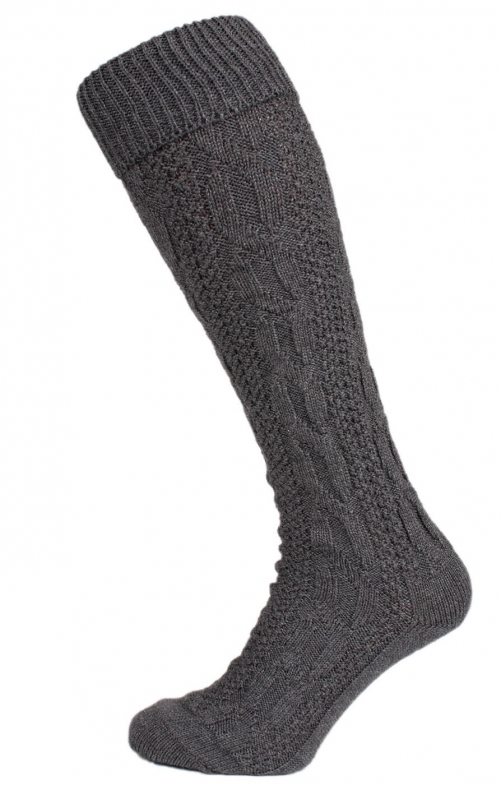 Traditional knee socks CS556 gray