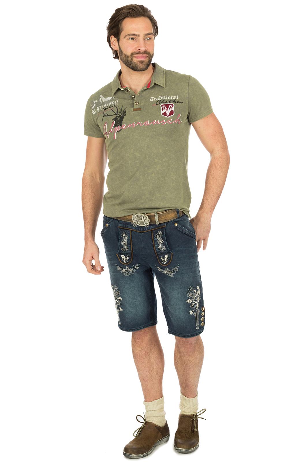weitere Bilder von Trachten Poloshirt M19 ALPENRAUSCH khaki
