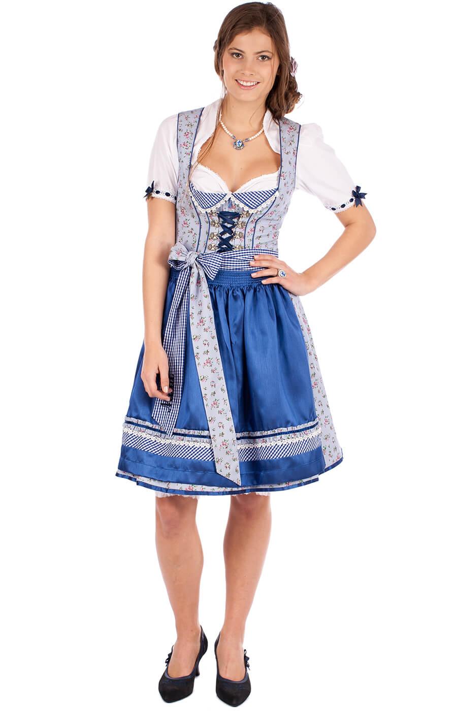 Mini Dirnd Veronika 2tlg. 50cm blau von Krüger Dirndl