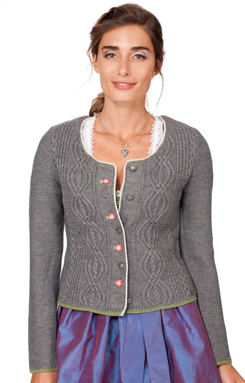Traditional Cardigan Fancy middle gray