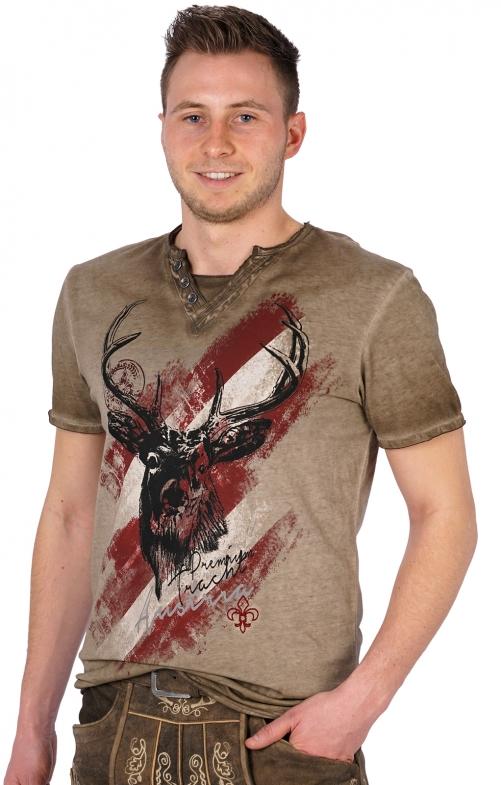 Traditional Tshirt Ferdi Austria marrone