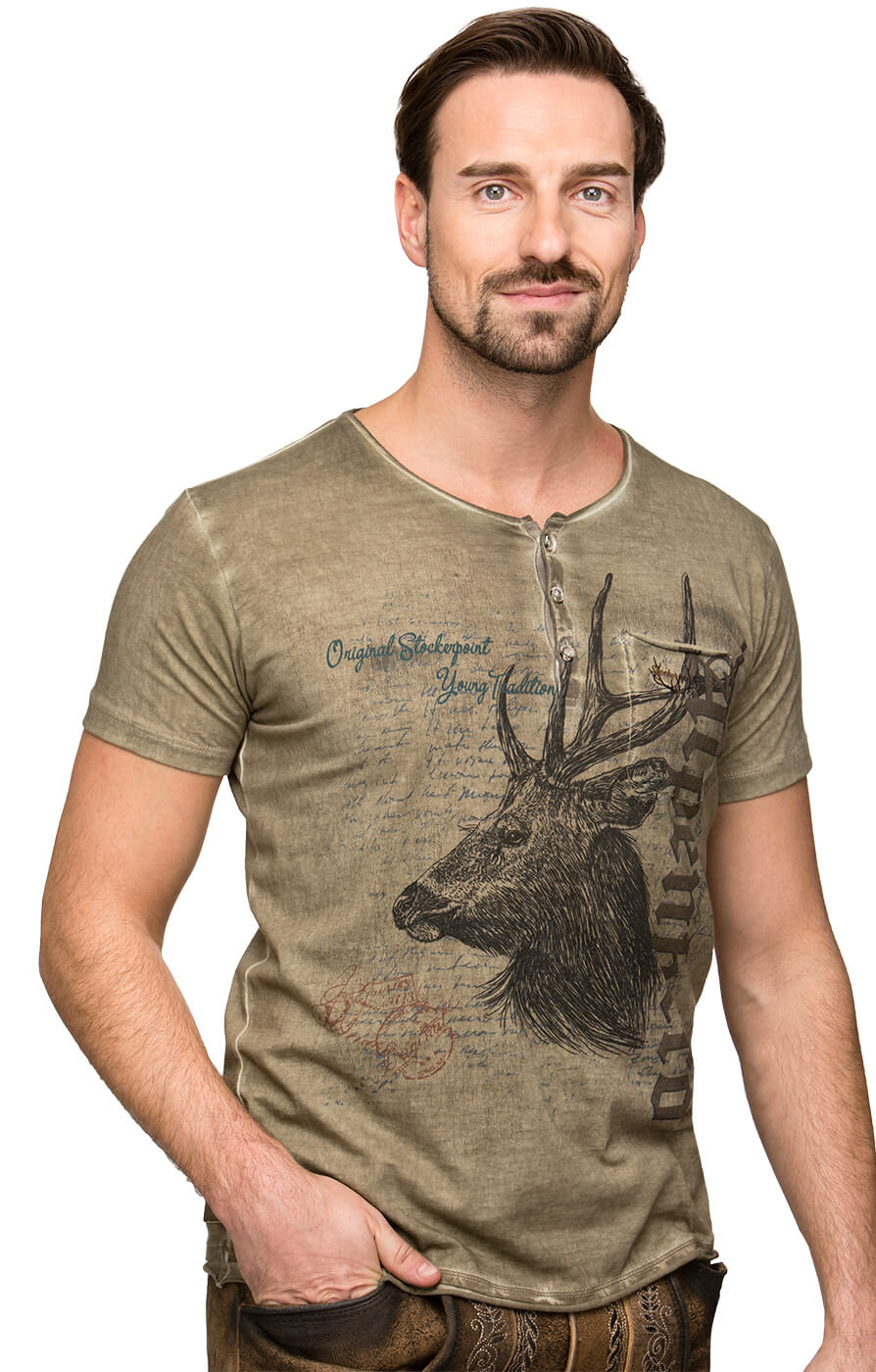 Trachten T-Shirt South wood von Stockerpoint