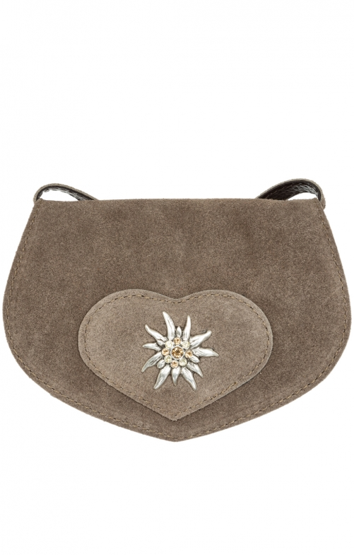 Traditional leather bag TA30110-9196 gray brown