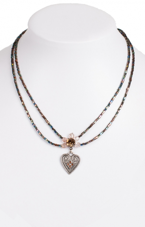 Traditional necklace 13007-2044 brown
