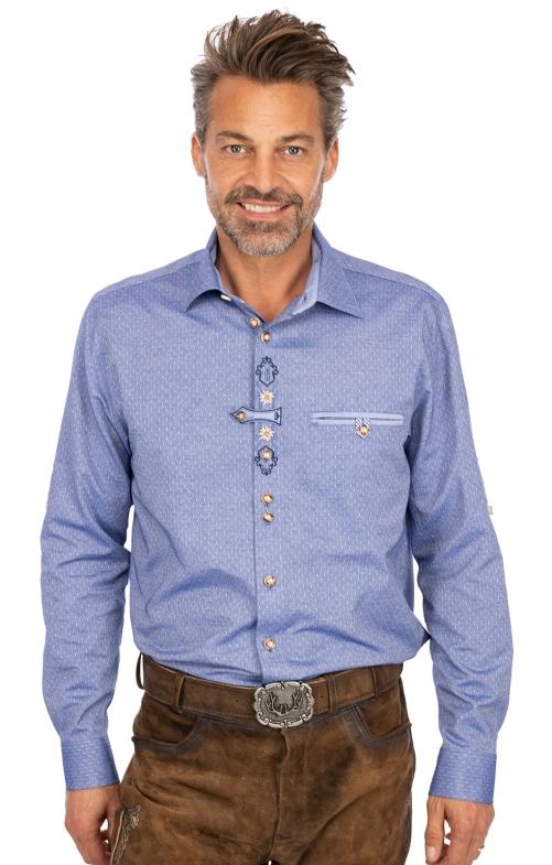 Hemd Langarm BENDIK blau