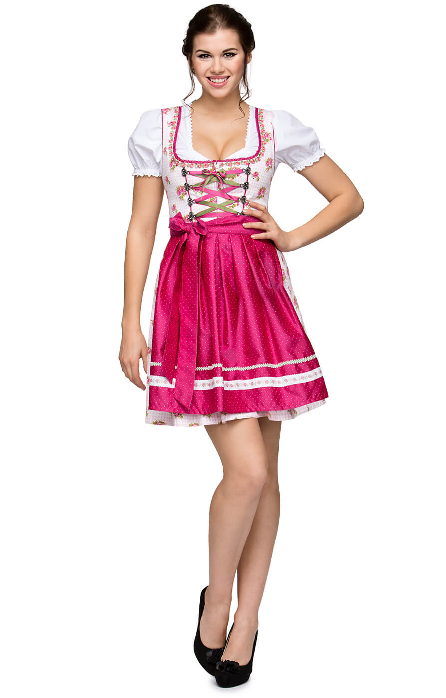 German Mini dirndl 2pcs. PARISrose 55cm von Stockerpoint