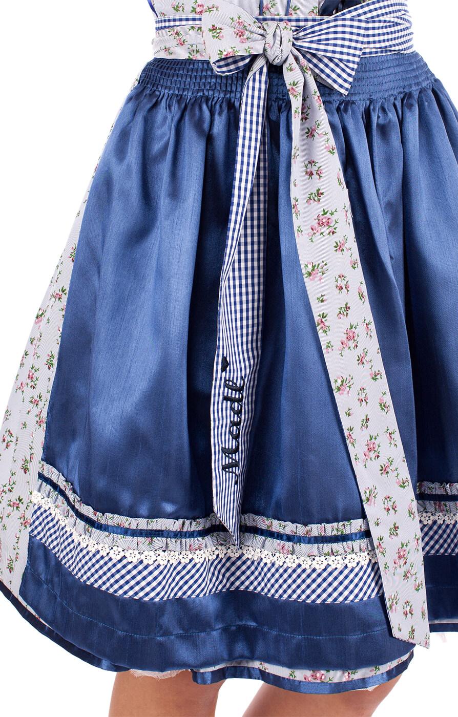 weitere Bilder von Mini Dirnd Veronika 2tlg. 50cm blau