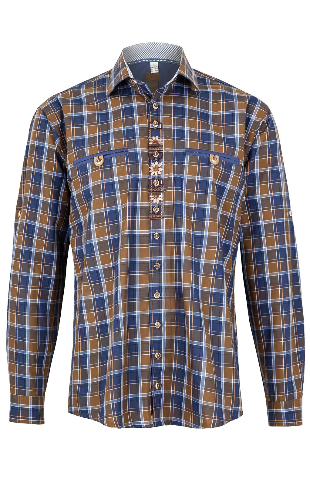weitere Bilder von German traditional shirt short arms blue brown