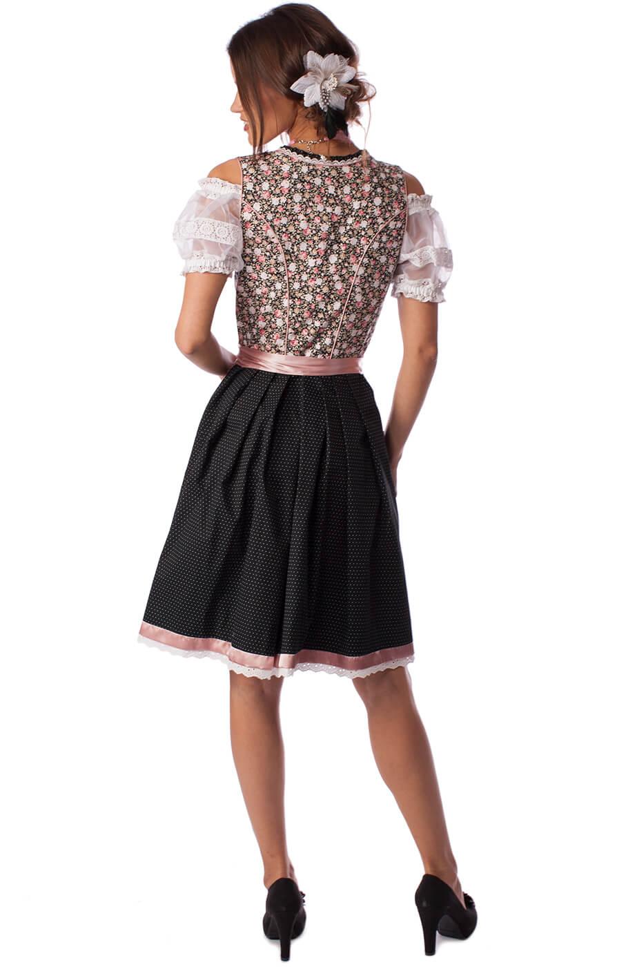 weitere Bilder von Midi Dirndl Sleek 2tlg. 60cm schwarz rose