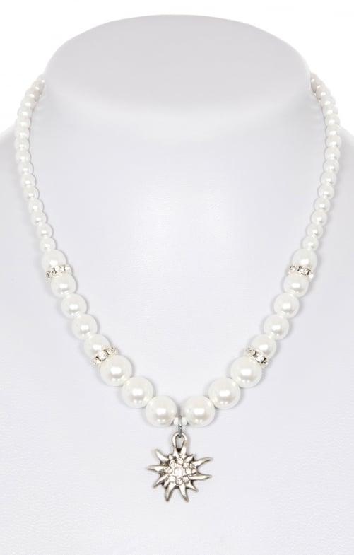 Collana di perle di cera con stella alpina piccola 8782