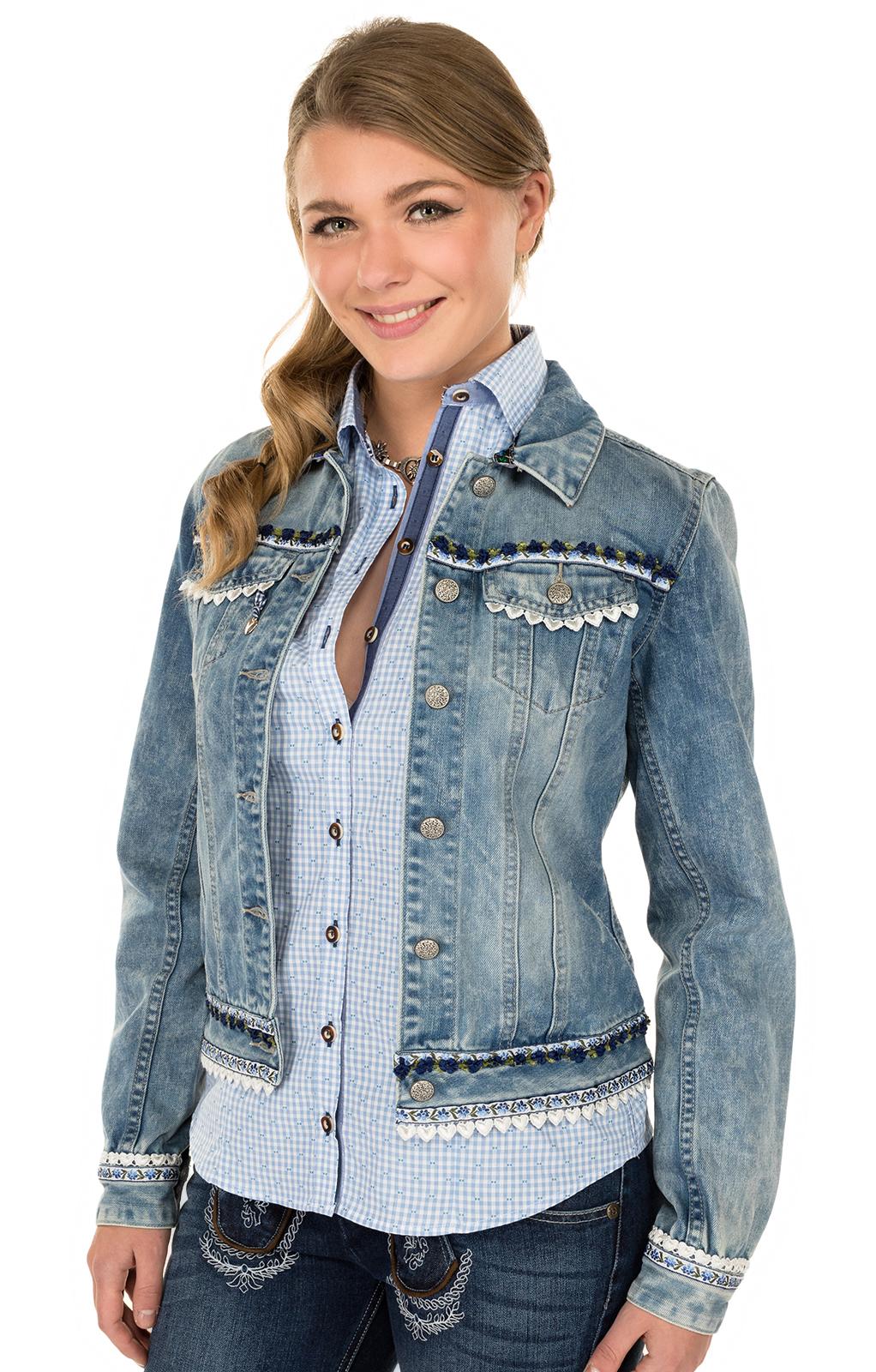Traditional Jacket DENIM DREAM blue-blue von Krüger Dirndl