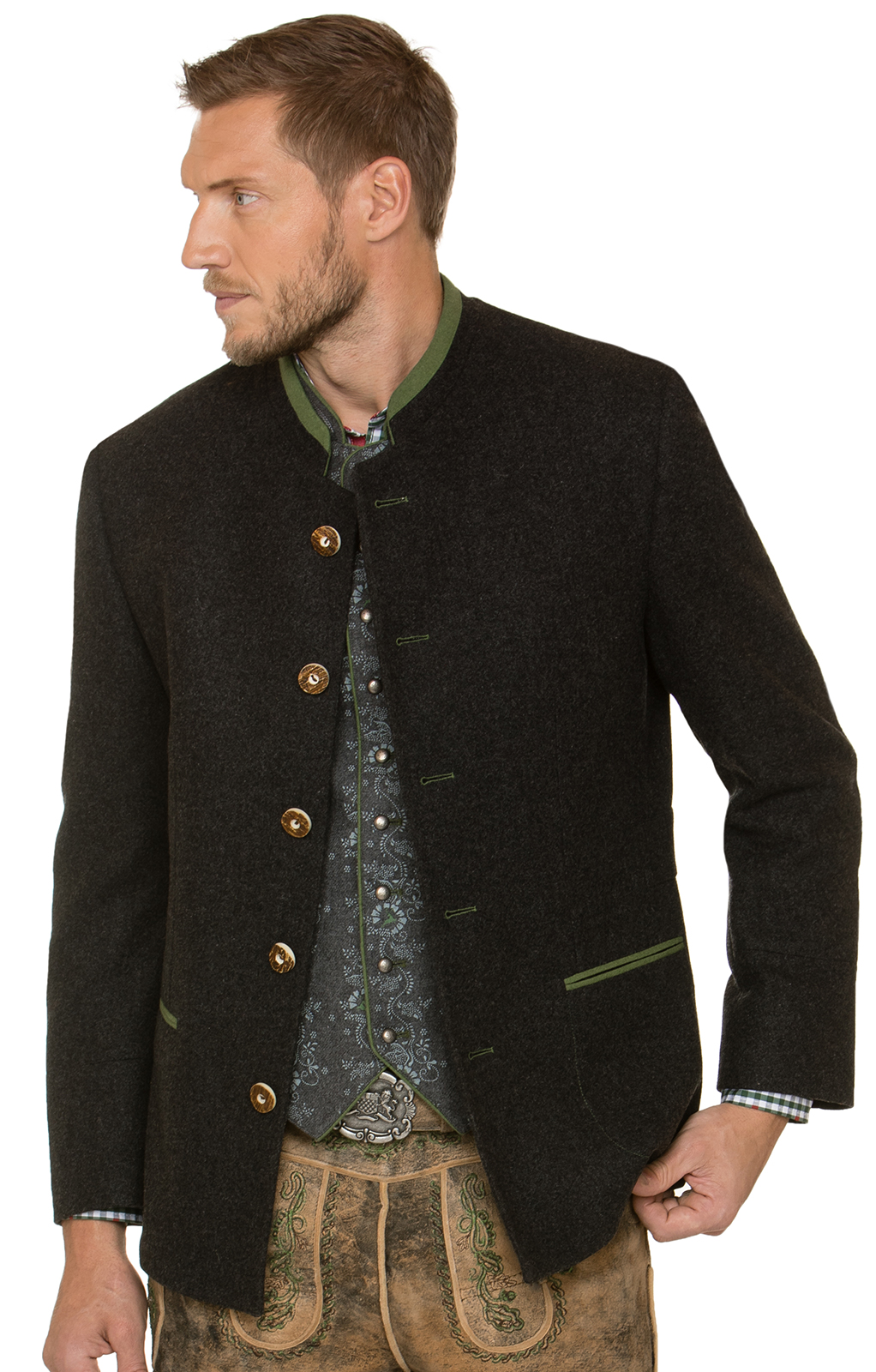 German traditional jacket MAXIMILIAN anthracite von Stockerpoint