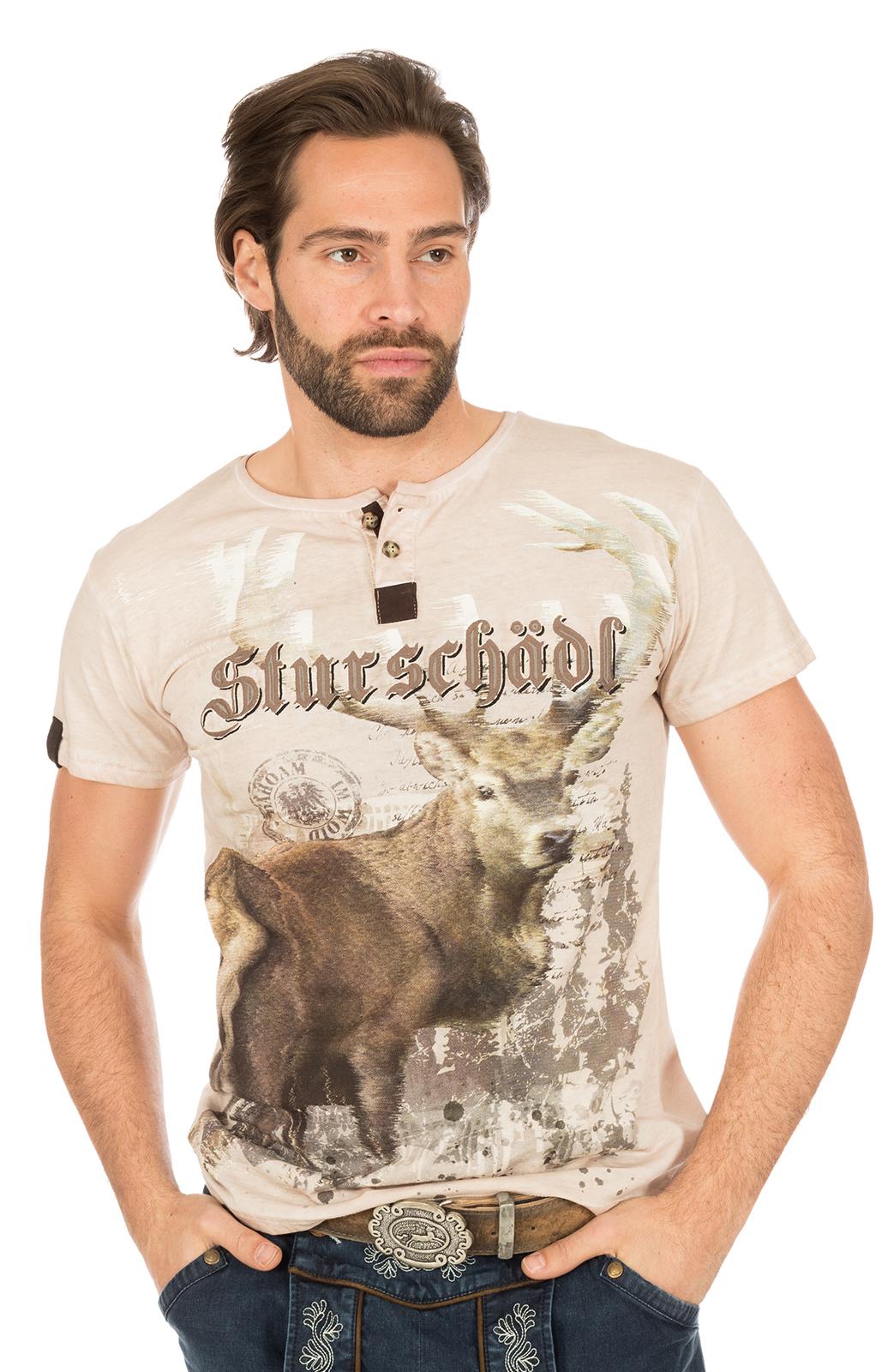 Traditional German T-Shirt STURSCHAEDL brown von Marjo