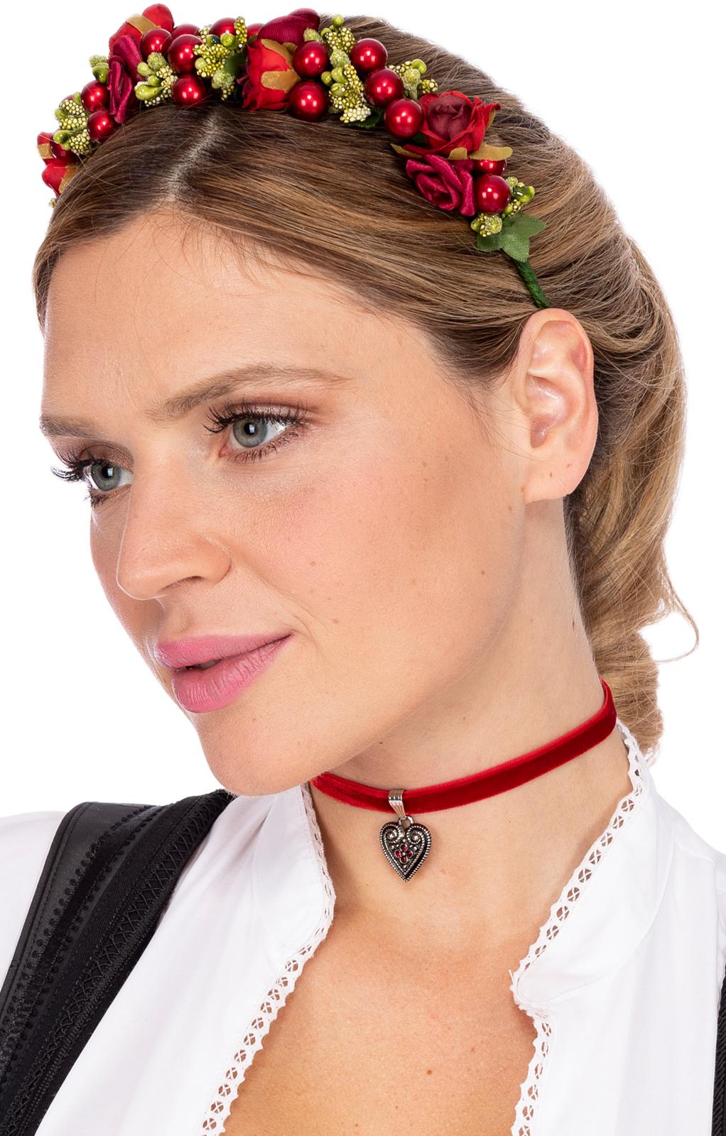 weitere Bilder von Haar en Hutkranz KAROLINA rood groen