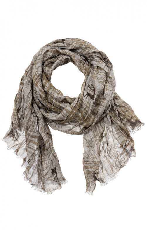 Traditional scarf TU609231 brown