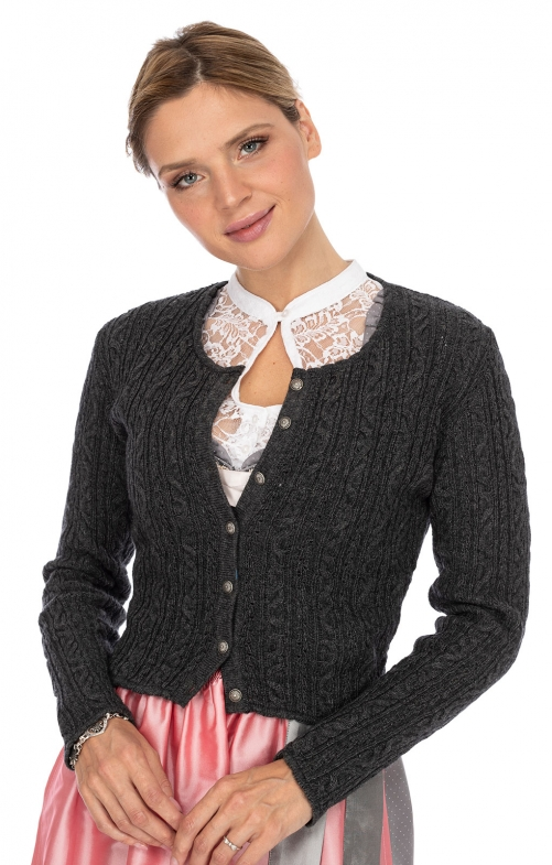 Traditional Cardigan LIZ3 anthracite